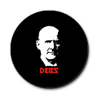 "Eugene Debs 1"" Button (Red and White on Black)"