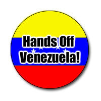 "Hands Off Venezuela 1"" Button"