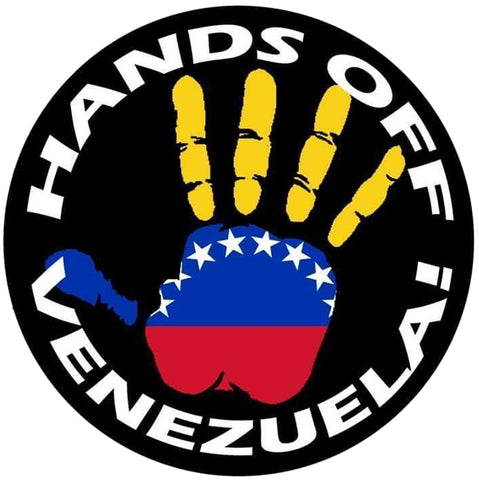 "Hands Off Venezuela 1.25"" Button"