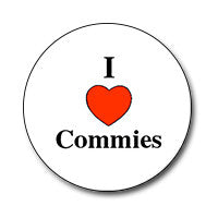 "I ♥ Commies 1"" Button"