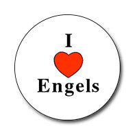 "I ♥ Engels 1"" Button"