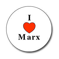 "I ♥ Marx 1"" Button"
