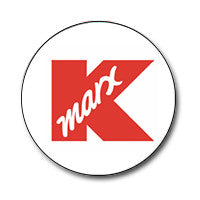 "K-Marx / K-Mart Logo 1"" Button (Red on White)"