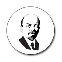 "New Style Lenin 1"" Button (Black and White)"