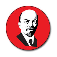 "New Style Lenin 1"" Button (Black and White on Red)"
