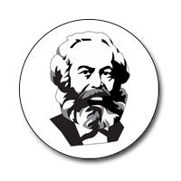 "New Style Marx 1"" Button (Black and White)"