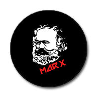 "Karl Marx 1"" Button (Red and White on Black)"