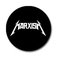"Metallica / Marxism 1"" Button (White on Black)"