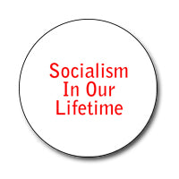 "Socialism in Our Lifetime 1"" Button (Red on White)"