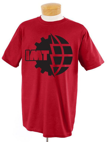 New IMT Logo Black on Red T-Shirt