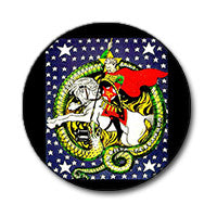 "Trotsky vs. Capitalist Dragon 1"" Button"