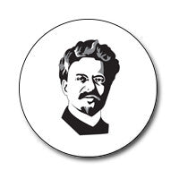 "New Style Trotsky 1"" Button (Black and White)"