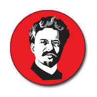 "New Style Trotsky 1"" Button (Black and White on Red)"
