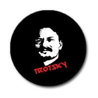 "Leon Trotsky 1"" Button (Red and White on Black)"