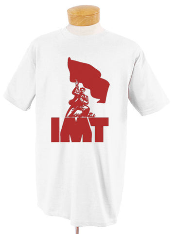 IMT Logo Red on White T-Shirt