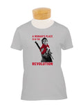 """A Woman's Place is in the Revolution"" Fitted T-Shirt"