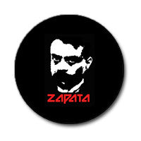 "Emiliano Zapata 1"" Button (Red and White on Black)"