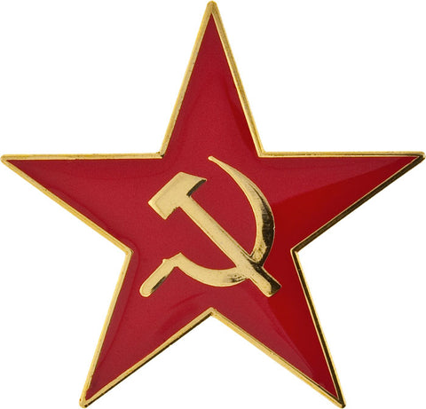 Small Red Star Hammer & Sickle Pin