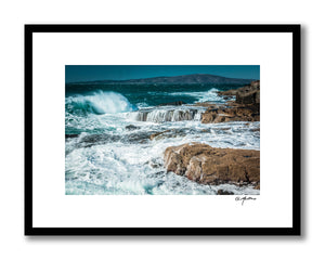 Snowy Waves at Maine's Schoodic Point