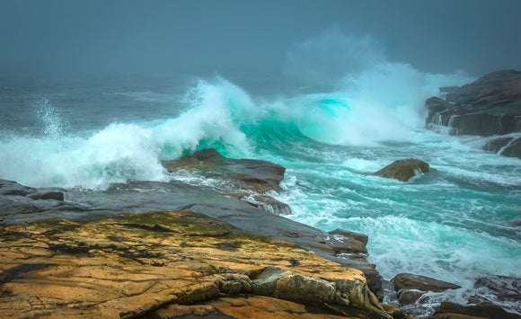 Ahead of the Storm at Maine's Schoodic Point