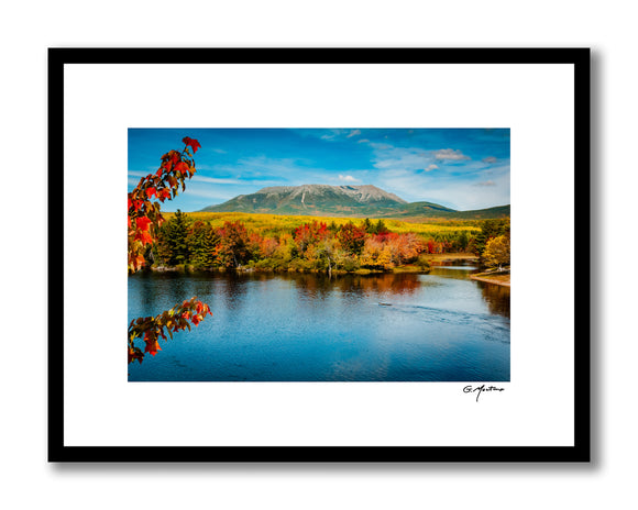 Maine's Mt. Katahdin from Abol Bridge