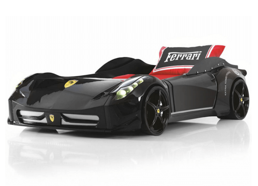 Super Spyder Ferrari style black car bed