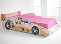 Pink car bed