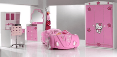 Speedster Buttercup race car bedroom theme