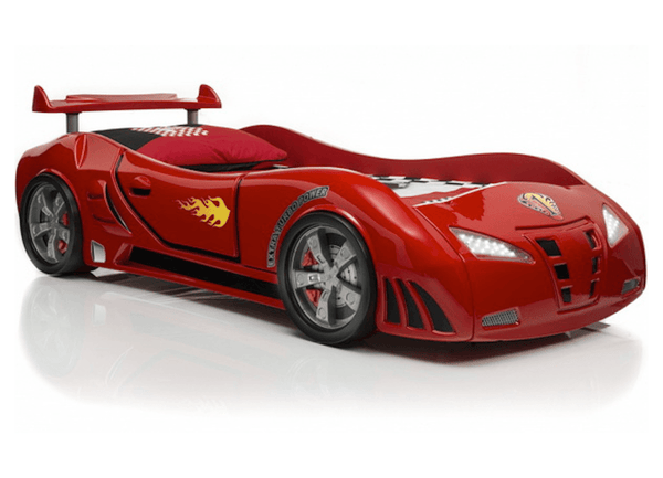 Speedster Ventura Red Car Bed With Lights And Sounds
