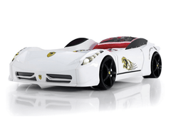 Super Spyder Ferrari style white car bed