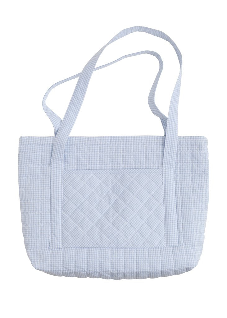 Light Blue Quilted Luggage
