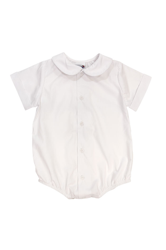 White Piped Shirt with Snaps (Boys)