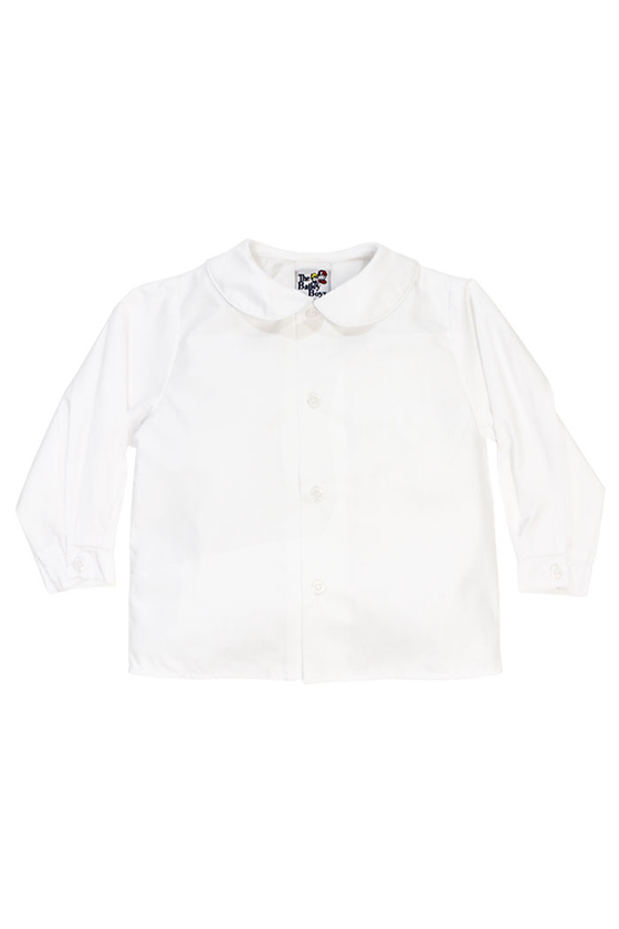 White Long Sleeve Woven Shirt (Boys)