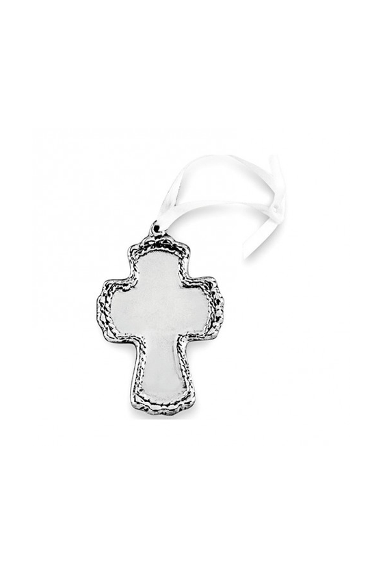 Baby Cord Cross Ornament