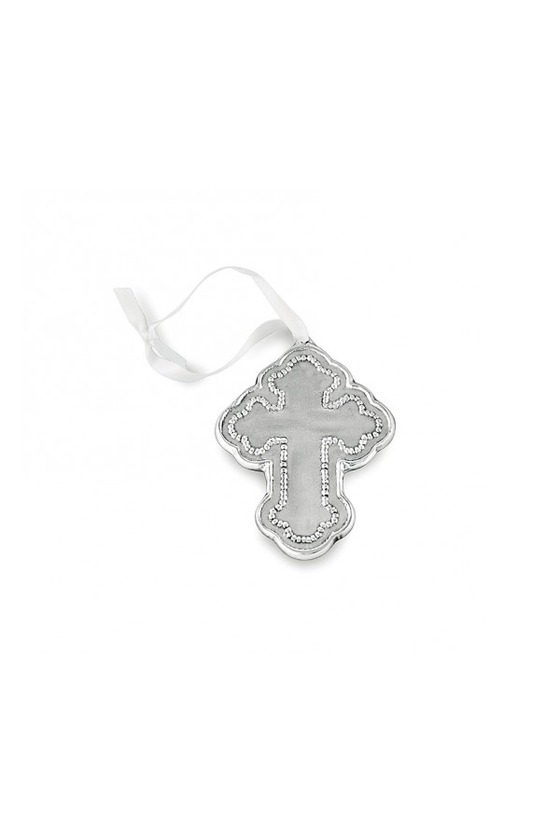 Baby Pearl Cross Ornament