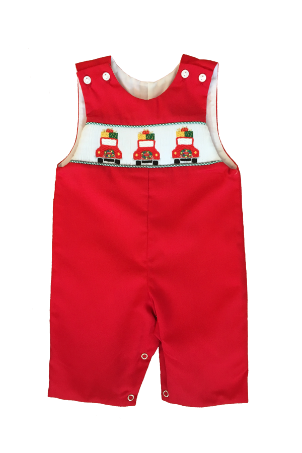 Christmas Buggy Smocked Longall