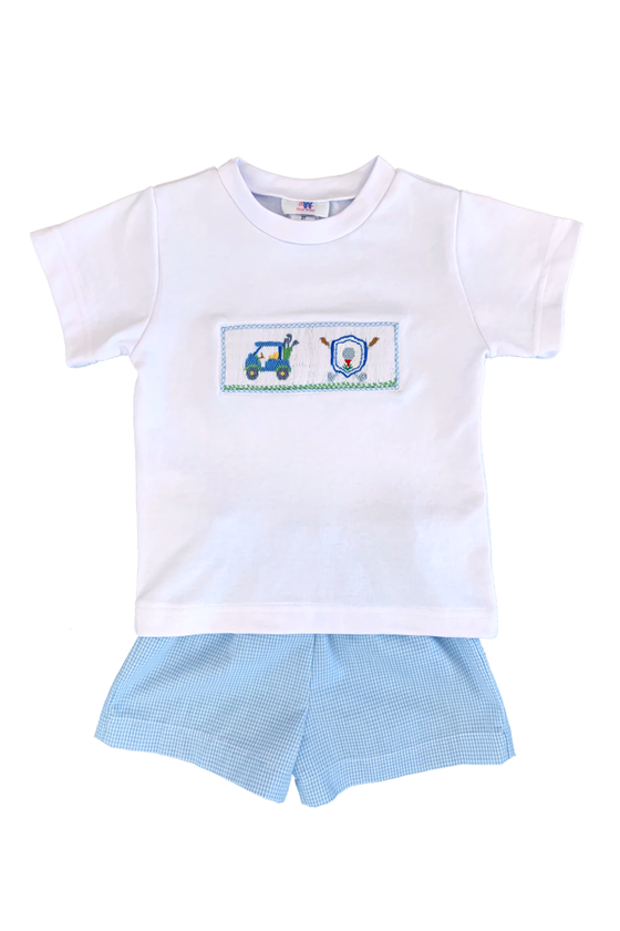 Golf Smocked Short Set