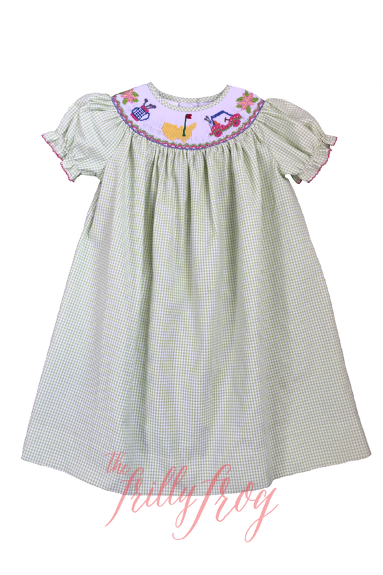 Hit the Links Poppy Smocked Dress PRE-ORDER