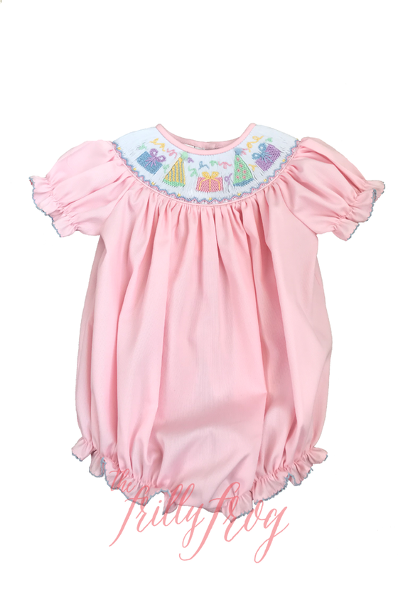 P is for Party Caroline Smocked Bubble PRE-ORDER