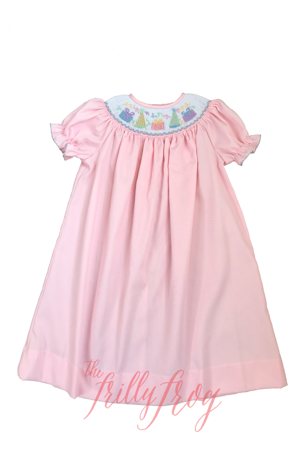P is for Party Poppy Smocked Dress