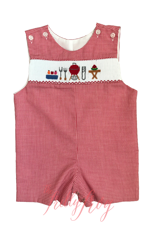 Que it Up Tate Smocked Shortall PRE-ORDER