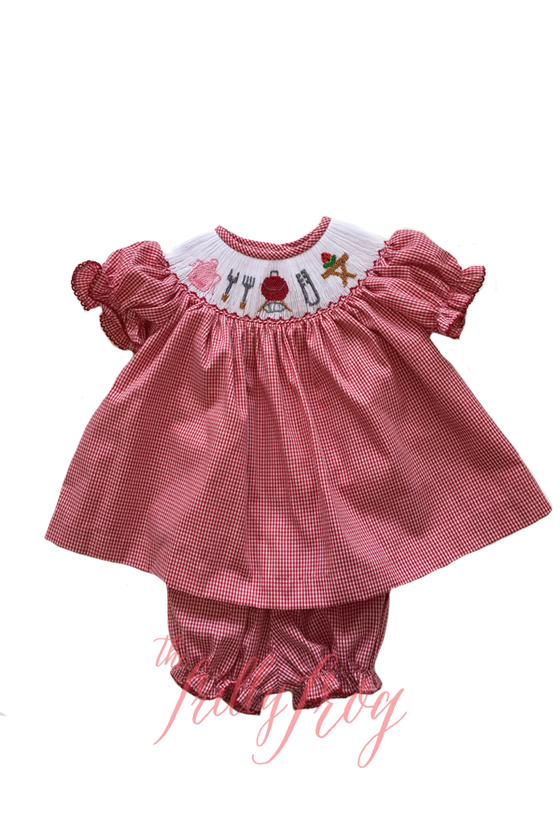 Que It Up Julep Smocked Bloomer Set