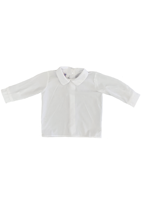 Long Sleeve Woven White Shirt - Boy