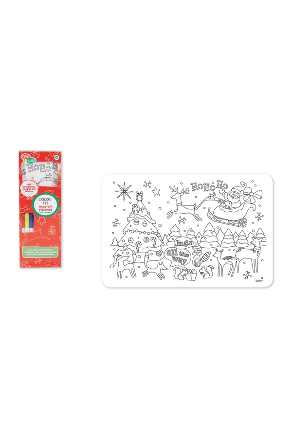 Christmas Express Silicone Placemat with Markers