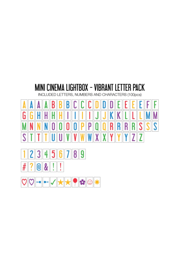 Mini Cinema Lightbox Vibrant Letter Pack