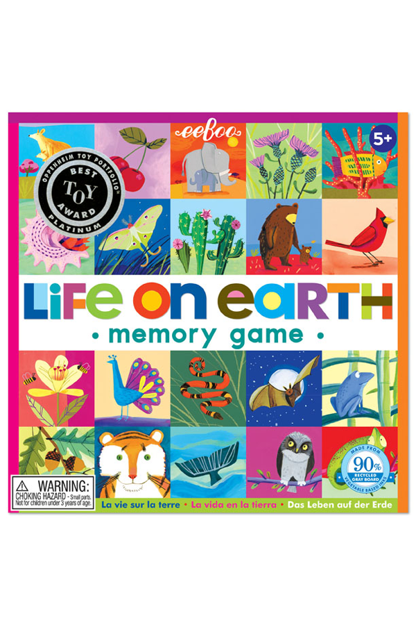 Life On Earth Square Matching Memory Game
