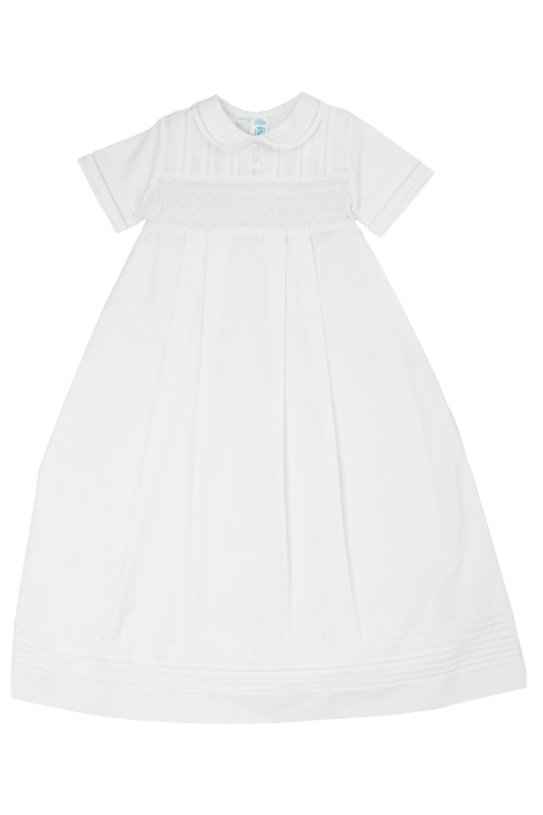 Smocked Christening Gown Boy