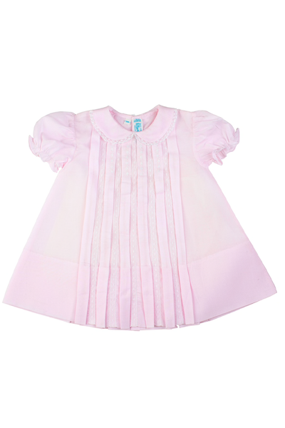 Lace Inlay Pleated Dress The Frilly Frog