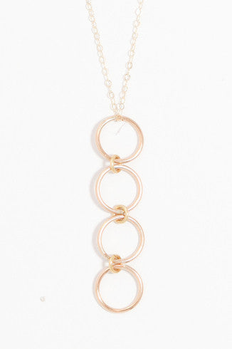 Halo Gold Necklace