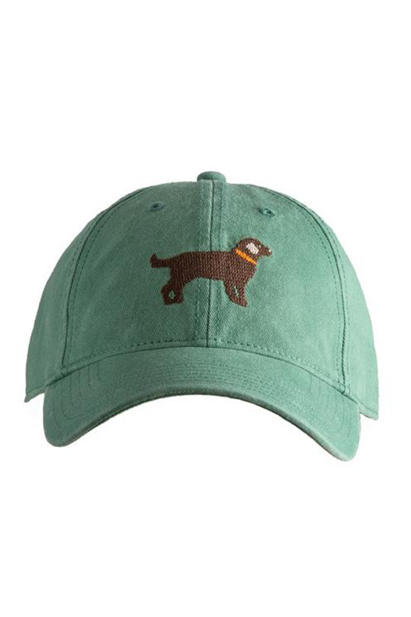 Chocolate Lab Needlepoint Moss Hat